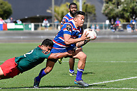 LEVIN, NEW ZEALAND - OCTOBER 28: Willie Paia'aua of Horowhenua Kapiti in action during the Lochore Cup Final match between Horowhenua Kapiti and Wairarapa Bush at Levin Domain on October 28, 2018 in Levin, New Zealand. Photo by Masanori Udagawa. <br /> www.photowellington.photoshelter.com