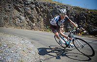 Romain Bardet (FRA/Ag2r-La Mondiale) descending <br /> <br /> stage 12: Lannemezan - Plateau de Beille (195km)<br /> 2015 Tour de France