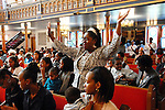 Parishioners at Mount Lebanon Baptist Church in Brooklyn, New York on Sunday, September 22, 2008.