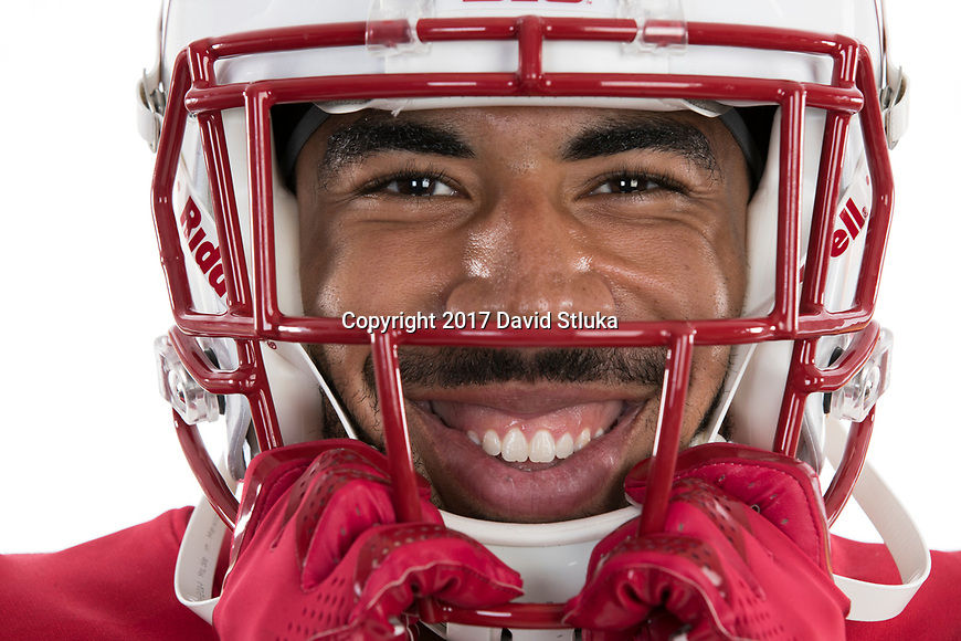 Portrait of Wisconsin Badgers football player Jazz Peavy (11) taken on Friday, July 11, 2017, in Madison, Wis. (Photo by David Stluka)