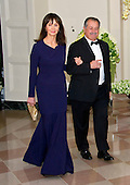 Andrew Liveris, Chairman &amp; Chief Executive Officer, The Dow Chemical Company, and Paula Liveris arrive for the State Dinner in honor of Prime Minister Trudeau and Mrs. Sophie Gr&eacute;goire Trudeau of Canada at the White House in Washington, DC on Thursday, March 10, 2016.<br /> Credit: Ron Sachs / Pool via CNP