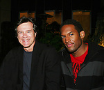 Frank Dicopoulos and Lawrence Saint-Victor - Guiding Light's actors at a private dinner on top of Mount Washington, near Pittsburgh, PA on the night before October 1, 2009 in the Pittsburgh, PA area as the actors GO PINK with Panera Bread as they visit many of the Panera Bread locations the next day. Proceeds from pink ribbon bagel sales will benefit the Young Women's Breast Cancer Awareness Foundation. (Photo by Sue Coflin/Max Photos)