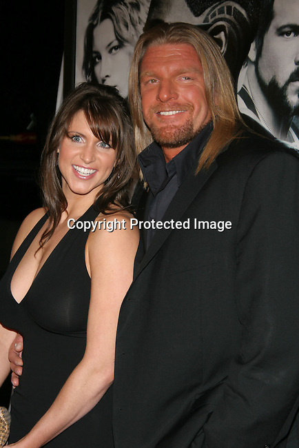 Triple H &amp; wife Stephanie McMahon<br />&quot;Blade: Trinity&quot; Premiere <br />Grauman&rsquo;s Chinese Theatre<br />Hollywood, CA, USA<br />Tuesday, December 7th, 2004<br />Photo By Celebrityvibe.com/Photovibe.com, <br />New York, USA, Phone 212 410 5354, <br />email: sales@celebrityvibe.com