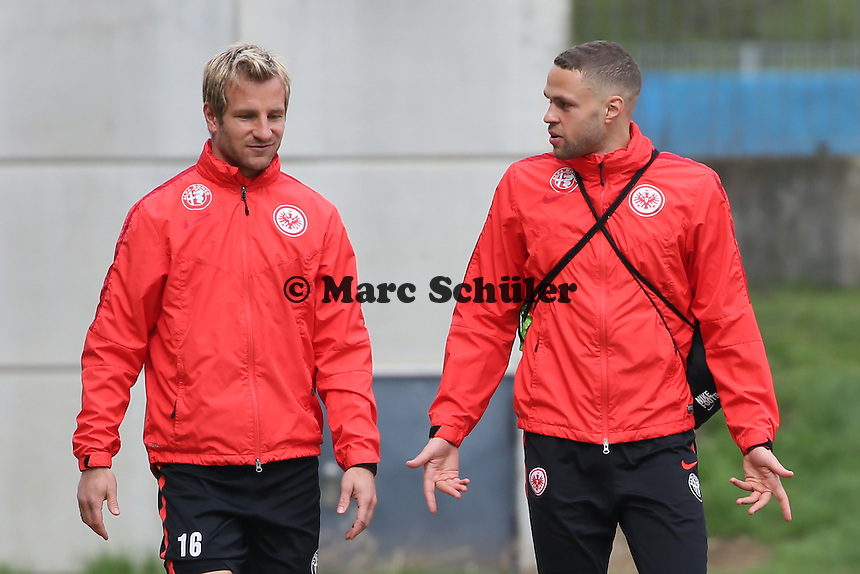 Stefan Aigner und Luc Castaignos - Eintracht Frankfurt Training, Commerzbank Arena