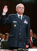 Washington, D.C. - May 18, 2006 --  United States Air Force General Michael Hayden is sworn-in to testify before the United States Senate Intelligence Committee on his nomination as Director of the Central Intelligence Agency (CIA) in Washington, D.C. on May 18, 2006. <br /> Credit: Ron Sachs / CNP