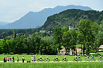 Team Sky on the front of the peloton during Stage 9 of the 104th edition of the Tour de France 2017, running 181.5km from Nantua to Chambery, France. 9th July 2017.<br /> Picture: ASO/Alex Broadway | Cyclefile<br /> <br /> <br /> All photos usage must carry mandatory copyright credit (&copy; Cyclefile | ASO/Alex Broadway)