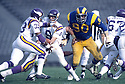 Los Angeles Larry Brooks(90) during a game from the 1979 season game against the Minnesota Vikings at the Los Angeles Memorial Coliseum in Los Angeles, California on December 3, 1979. The Rams beat the Vikings 27-20. Larry Brooks  played for 11 years all with the Rams and was a 5-time Pro Bowler.David Durochik/SportPics