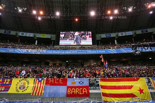 Barcelona fans, <br /> DECEMBER 17, 2015 - Football / Soccer : <br /> FIFA Club World Cup Japan 2015 <br /> semi-final match between Barcelona 3-0 Guangzhou Evergrande <br /> at Yokohama International Stadium in Kanagawa, Japan.<br /> (Photo by Yohei Osada/AFLO SPORT)