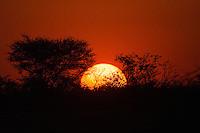 Sunset at Okaukuejo in Etosha, Namibia