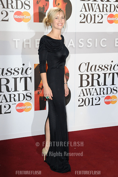 Alison Balsom arriving for the Classic Brit Awards 2012 at the Royal Albert Hall, London. 02/10/2012 Picture by: Steve Vas / Featureflash