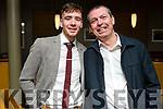 Barry Mahoney and Aidan Sheehan attending the Crotta O'Neills GAA social in the Ballyroe Heights Hotel on Saturday night.