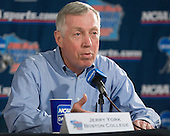 Post practice press conference: Jerry York - The Boston College Eagles practiced on Wednesday, April 5, 2006, at the Bradley Center in Milwaukee, Wisconsin, in preparation for their 2006 Frozen Four Semi-Final game against the University of North Dakota.