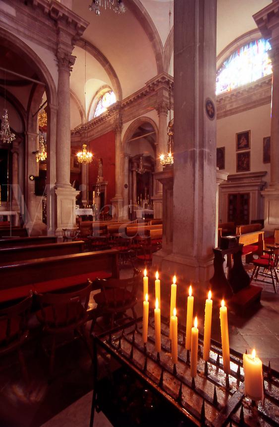 The interior of Saint Blaise Church. Dubrovnik Old City. Croatia
