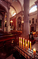 The interior of Saint Blaise Church. Dubrovnik Old City. Croatia