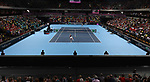 A general view (GV) of the arena. Rubber 2. Great Britain v Kazakhstan. World group II play off in the BNP Paribas Fed Cup. Copper Box arena. Queen Elizabeth Olympic Park. Stratford. London. UK. 20/04/2019. ~ MANDATORY Credit Garry Bowden/Sportinpictures - NO UNAUTHORISED USE - 07837 394578