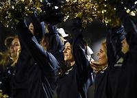 NWA Democrat-Gazette/CHARLIE KAIJO Bentonville West cheerleaders perform, Friday, November 8, 2019 during a football game at Bentonville West High School in Centerton.