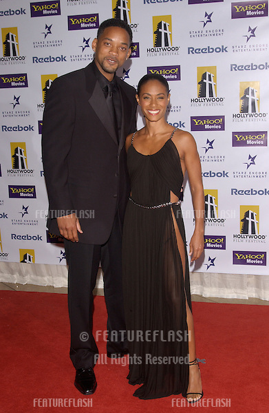 Actor WILL SMITH & wife actress JADA PINKETT SMITH at the 8th Annual Hollywood Film Festival's Hollywood Awards at the Beverly Hills Hilton..October 18, 2004