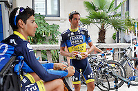 Alberto Contador during a training session in the rest day of La Vuelta 2012.August 27,2012. (ALTERPHOTOS/Paola Otero) /NortePhoto.com<br />
