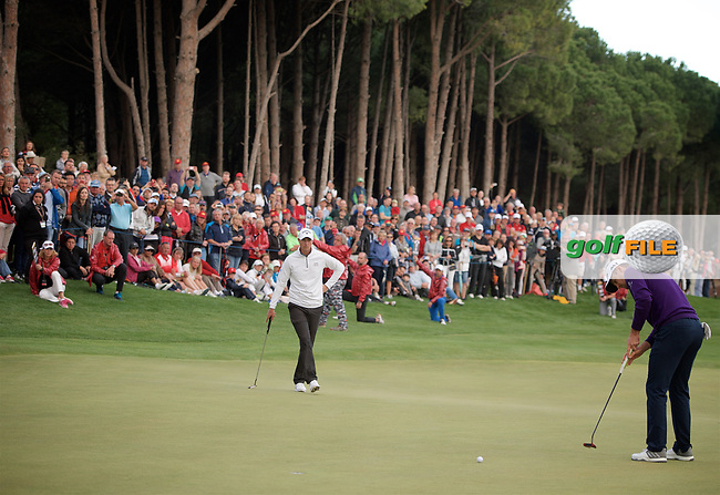 Justin Rose (ENG) winner of the Turkish Airlines Open, Regnum Carya Golf &amp; Spa Resort, Antalya, Turkey. 05/11/2017<br /> Picture: Golffile | Michael Denker<br /> <br /> <br /> All photo usage must carry mandatory copyright credit (&copy; Golffile | Michael Denker)