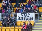 St Johnstone v Ross County.....21.04.13      SPL.A message from the Ross Cty fans to Richie Brittain..Picture by Graeme Hart..Copyright Perthshire Picture Agency.Tel: 01738 623350  Mobile: 07990 594431