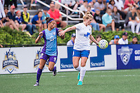 Allston, MA - Sunday July 31, 2016: Kristen Edmonds, Natasha Dowie during a regular season National Women's Soccer League (NWSL) match between the Boston Breakers and the Orlando Pride at Jordan Field.