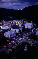 The character of fairs in the eastern part of the United States is laden with history. During the Tunbridge Fair in Vermont, traffic packs the streets in the town's historic district. In 1811, America's first county fair was organized in Pittsfield, Massachusetts, by a farmer named Elkanah Watson. Although less than 3 percent of Americans are directly engaged in farming today, county fairs enable communities to appreciate their agricultural heritage.