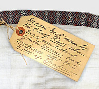 BNPS.co.uk (01202 558833)<br /> Pix: Burstow&Hewett/BNPS<br /> <br /> Detail of the shawl.<br /> <br /> A British auction house has withdrawn a rare Maori cloak from sale and called in the police after receiving a torrent of online abuse from irate New Zealanders.<br /> <br /> The hand-woven flax and cotton shawl is understood to have been the property of the 19th century tribal leader Chief Rewi Maniapoto, who is revered to this day in Maori culture.<br /> <br /> It was discovered in a linen cupboard by a couple from East Sussex who planned to sell it with their local auction house for £5,000.<br /> <br /> But its proposed sale led to an avalanche of negative comments from social media trolls from the other side of the world who said the cloak should be returned to the Maori community in New Zealand.