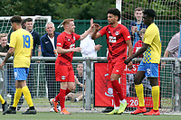 James Brophy of Leyton Orient celebrates scoring the third goal during Harlow Town vs Leyton Orient, Friendly Match Football at The Harlow Arena on 6th July 2019