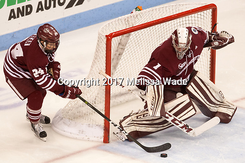 Shane Bear (UMass - 24), Ryan Wischow (UMass - 1) - The Boston University Terriers defeated the University of Massachusetts Minutemen 3-1 on Friday, February 3, 2017, at Agganis Arena in Boston, Massachusetts.The Boston University Terriers defeated the visiting University of Massachusetts Amherst Minutemen 3-1 on Friday, February 3, 2017, at Agganis Arena in Boston, MA.