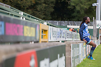 Marcus Bean of Wycombe Wanderers after a fitness test ahead of the Sky Bet League 2 match between Yeovil Town and Wycombe Wanderers at Huish Park, Yeovil, England on 8 October 2016. Photo by Mark  Hawkins / PRiME Media Images.