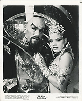 Flash Gordon (1980) <br /> Max von Sydow &amp; Ornella Muti<br /> *Filmstill - Editorial Use Only*<br /> CAP/KFS<br /> Image supplied by Capital Pictures