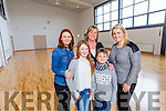 Pictured in the Gym in the new Blennerville National School were from left Sylvia Ciurus Michaela McAdams, Anne Marie Scott, SNA, Timmy Piegza and Sarah Dinan, Teacher.