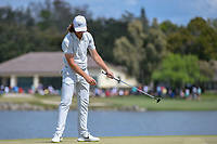 Tommy Fleetwood (ENG) reacts to barely missing his putt on 6 during round 4 of the Arnold Palmer Invitational at Bay Hill Golf Club, Bay Hill, Florida. 3/10/2019.<br /> Picture: Golffile | Ken Murray<br /> <br /> <br /> All photo usage must carry mandatory copyright credit (© Golffile | Ken Murray)