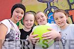 FUTSAL: Taking part in the Futsal tournament in Listowel Sports Centre on Friday were, l-r: Amy Mason, Leilani Joy, Sarah Hunt, Zara O'Doherty.