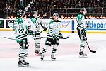 Stockholm 2014-03-27 Ishockey Kvalserien Djurg&aring;rdens IF - R&ouml;gle BK :  <br /> R&ouml;gles Daniel Zaar , R&ouml;gles Jakob Johansson , R&auml;gles Niklas Hansson och R&ouml;gles Dennis Everberg ser fundersamma ut<br /> (Foto: Kenta J&ouml;nsson) Nyckelord:  DIF Djurg&aring;rden R&ouml;gle RBK Hovet depp besviken besvikelse sorg ledsen deppig nedst&auml;md uppgiven sad disappointment disappointed dejected