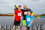 Enjoying the Santa 5km run in memory of Fiona Moore in aid of Heart Children Ireland at the Tralee Wetlands were l-r  Darragh Lowth, Paul Lowth and Sadbh Lowth.