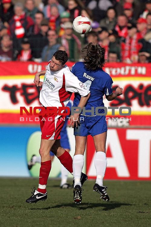 RLN 2007/2008 23. Spieltag R&uuml;ckrunde 1. FC Union Berlin vs BSV Kickers Emden<br /> <br /> Nico Patschinski (Berlin #19) und Bernd Rauw (Emden #4)<br /> <br /> Foto &copy; nph (  nordphoto  )
