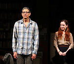 'SEMINAR'  First Performance Curtain Call as new cast members Jeff Goldblum, Justin Long and Zoe Lister-Jones join continuing acclaimed cast members Jerry O' Connell and Hettienne Park at the Golden Theatre in New York City on 4/3/2012.