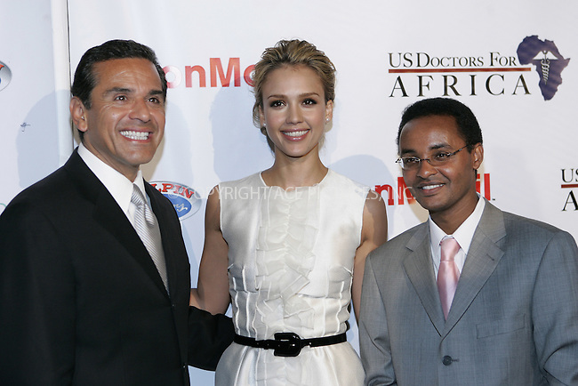 WWW.ACEPIXS.COM . . . . . ....April 21 2009, Beverly Hills CA....Mayor Antonio Villaraigosa, actress Jessica Alba and Ted Alemayhu arriving at the 1st Annual Historic Health Summit Gala at the Beverly Hilton on April 21, 2009 in Beverly Hills, California.....Please byline: JOE WEST- ACEPIXS.COM.. . . . . . ..Ace Pictures, Inc:  ..(646) 769 0430..e-mail: info@acepixs.com..web: http://www.acepixs.com