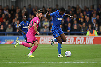 Michael Folivi of AFC Wimbledon and Jimmy Ryan of Rochdale AFC during AFC Wimbledon vs Rochdale, Sky Bet EFL League 1 Football at the Cherry Red Records Stadium on 5th October 2019