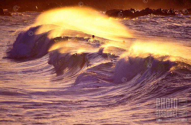 Waves found off the shore of Waimea Bay