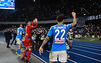 26th January 2020; Stadio San Paolo, Naples, Campania, Italy; Serie A Football, Napoli versus Juventus; Giovanni Di Lorenzo of Napoli celebrates the 2-1 win