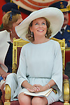 Queen Mathilde of Belgium and King Philippe - Filip of Belgium Prince Emmanuel, Crown Princess Elisabeth, Prince Gabriel and Princess Eleonore , Prince Lorenz of Belgium, Princess Astrid of Belgium, Princess Claire of Belgium and Prince Laurent of Belgium pictured during the military parade on the Belgian National Day pictured during the military parade on the Belgian National Day, , <br /> Brussels, 21 July 2015, Belgium<br /> Pics: Queen Mathilde of Belgium