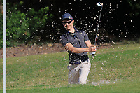 Daan Huizing (NED) in a bunker at the 4th green during Round 1 of the Challenge Tour Grand Final 2019 at Club de Golf Alcanada, Port d'Alcúdia, Mallorca, Spain on Thursday 7th November 2019.<br /> Picture:  Thos Caffrey / Golffile<br /> <br /> All photo usage must carry mandatory copyright credit (© Golffile | Thos Caffrey)