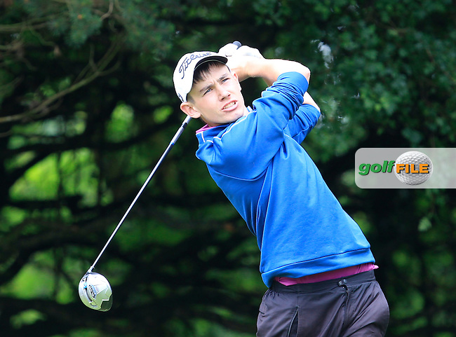 Joseph O'Neill (Tralee) on the 2nd tee during Round 3 of the Irish Boys Amateur Open Championship at Tuam Golf Club on Thursday 25th June 2015.<br /> Picture:  Thos Caffrey / www.golffile.ie