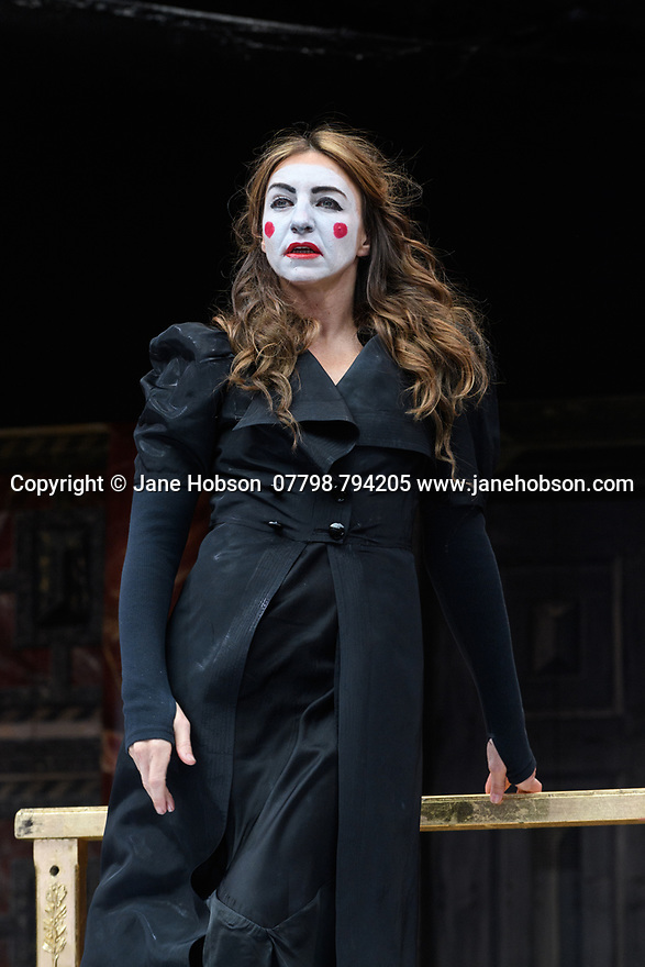 """Shakespeare's Globe presents ROMEO AND JULIET, by WIlliam Shakespeare, directed by Daniel Kramer, as part of Emma Rice's """"Summer of Love"""" season. Picture shows: Kirsty Bushell (Juliet)"""