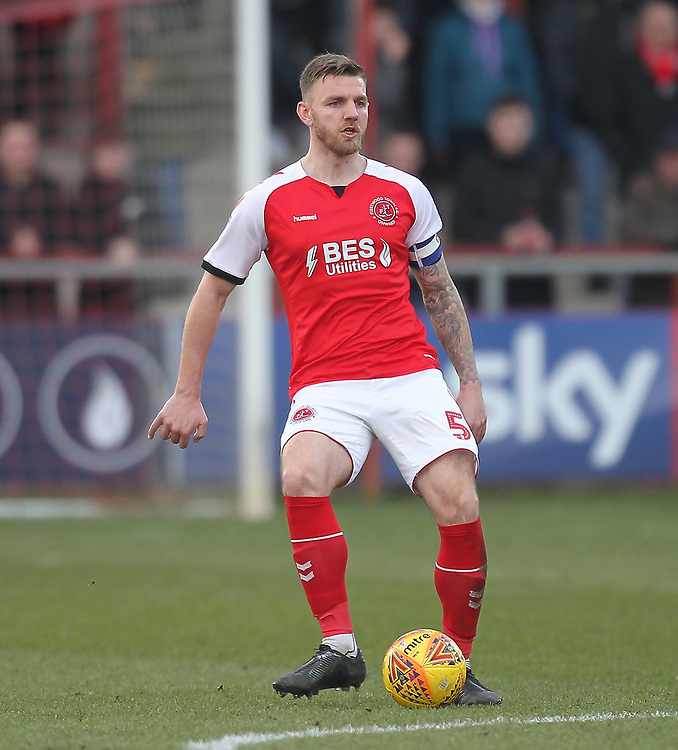 Fleetwood Town's Ashley Eastham<br /> <br /> Photographer Mick Walker/CameraSport<br /> <br /> The EFL Sky Bet League One - Fleetwood Town v Luton Town - Saturday 16th February 2019 - Highbury Stadium - Fleetwood<br /> <br /> World Copyright © 2019 CameraSport. All rights reserved. 43 Linden Ave. Countesthorpe. Leicester. England. LE8 5PG - Tel: +44 (0) 116 277 4147 - admin@camerasport.com - www.camerasport.com