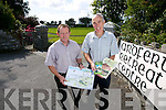 Donal Stack and Tommy O'Connor putting the call out for speakers on Historical Talks at the Ardfert Retreat Centre