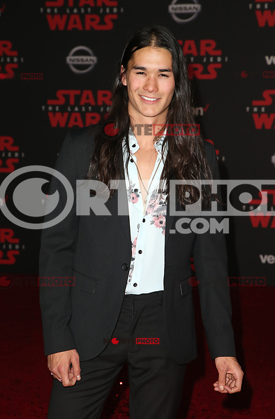LOS ANGELES, CA - DECEMBER 9: Boo Boo Stewart, at Premiere Of Disney Pictures And Lucasfilm's 'Star Wars: The Last Jedi' at Shrine Auditorium in Los Angeles, California on December 9, 2017. Credit: Faye Sadou/MediaPunch /NortePhoto.com NORTEPHOTOMEXICO