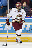 Joe Rooney (Boston College - Canton, MA) warmups up before the 2007 NCAA Northeast Regional Final on Sunday, March 25, 2007 at the Verizon Wireless Arena in Manchester, New Hampshire.